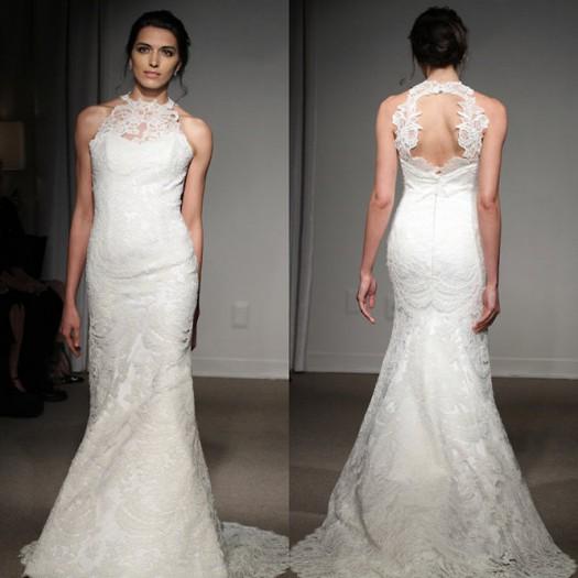 La dentelle reste une grande tendance de la robe de mariée. Comme un  incontournable, la dentelle en matière de mariage est devenu un indémodable.